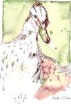Entenmama - Zeichnung von Susanne Haun - 22 x 17 cm - Tusche auf Bütten