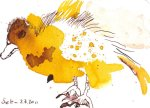 Entenkind 1 - Zeichnung von Susanne Haun - 10 x 15 cm - Tusche auf Bütten