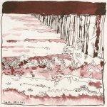Das Meer - Zeichnung von Susanne Haun - 20 x 20 cm - Tusche auf Bütten