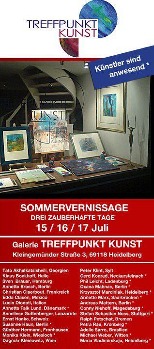 Einladungskarte Sommervernissage 2011 Treffpunkt Kunst