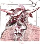 Stier Version 3 - Zeichnung von Susanne Haun - 20 x 20 cm - Tusche auf Bütten