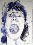 Kampfeswut -Zeichnung von Susanne Haun - 40 x 30 cm - Tusche auf Bütten