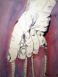 Die Schleuder - Zeichnung von Susanne Haun - 40 x 30 cm - Tusche auf Bütten
