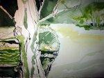 Sie geht bis zur Furt der Wache in Sliab Fuait - Zeichnung von Susanne Haun - 40 x 30 cm - Tusche auf Bütten