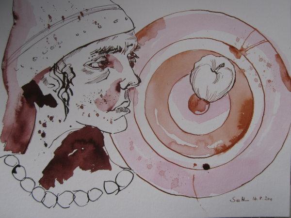 Königssohn Foill - Zeichnung von Susanne Haun - 30 x 40 cm - Tusche auf Bütten