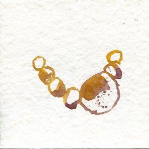 Frage - Entscheidung - hell - 1 - Zeichnung von Susanne Haun - 20 x 20 cm - Tusche auf Bütten