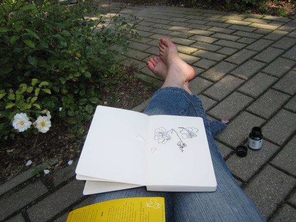 Ist das schön, einfach draußen zu sitzen... - Foto von Susanne Haun