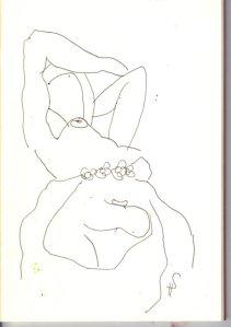 2. Skizze von der weiblichen rechten Säulenträgerin von Susanne Haun