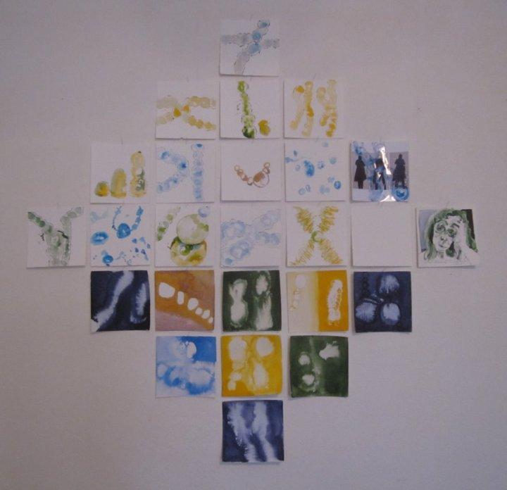 Entscheidung - Konzept Susanne Haun - 25teilig - 170 x 170 cm - Tusche auf Bütten