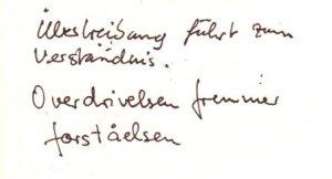 Deutsch - Dänische - Sprichwort - Geschrieben von Susanne Haun und Annette Falk Lund