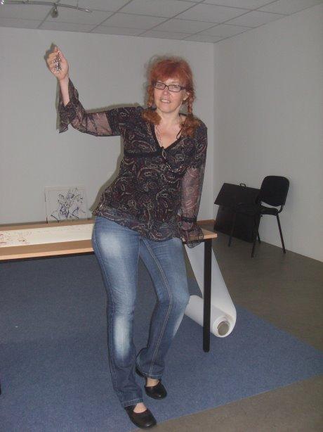 Innen ist noch alles leer - ich und mein Schlüssel - Foto von Susanne Haun
