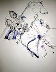 Der Phlox entwickelt sich über Tage - Entstehung Zeichnung von Susanne Haun