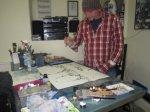 Andreas in seinem Atelier in der Kurfürstenstr. 39 - Foto von Susanne Haun