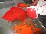 Karminrot ist gegenüber dem Zinnoberrot ein kaltes Rot - Foto von Susanne Haun
