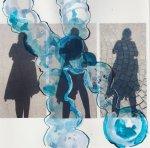 Selbst als Schatten mit Übermalung eines Farbkörpers, Chromosoms - Susanne Haun