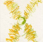 Frage - Entscheidung - hell - 4 - Zeichnung von Susanne Haun - 20 x 20 cm - Tusche auf Bütten