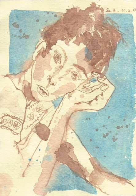 Susanne Haun (c) Portrait in blau weiblich