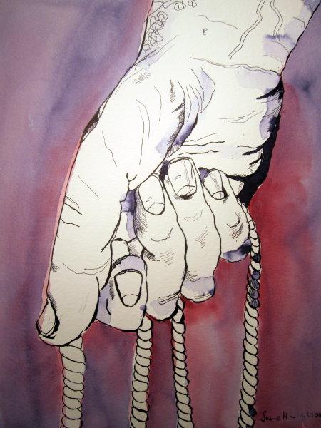 Die Schleuder - Zeichnung von Susanne Haun