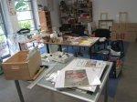In meinem Atelier sieht es noch ein wenig wie nach einem Tornado aus - Foto von Susanne Haun