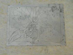Zinkplatte nach der Ätzung - Foto von Susanne Haun