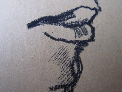 Detail Mund Kohlezeichnung von Susanne Haun
