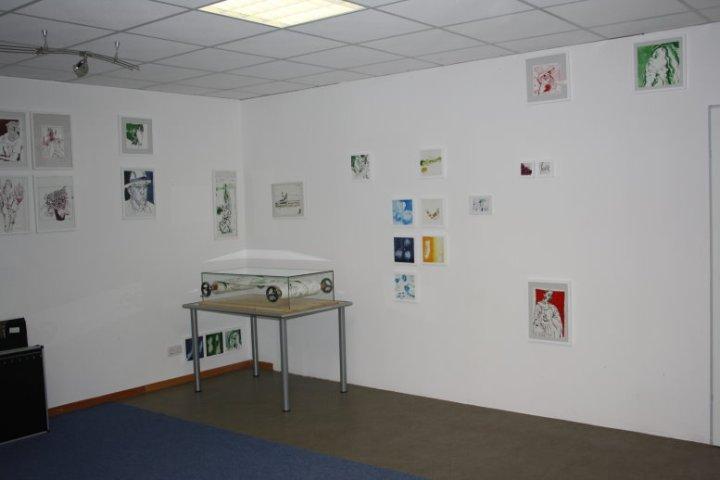 Ich habe den Raum im Atelier genutzt - Foto von Susanne Haun