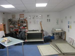 Vorbei ist es mit dem Raum nutzen - mein Kram wird entladen - Foto von Susanne Haun