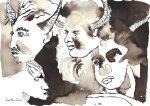 Dämone Vers 2 - Zeichnung von Susanne Haun - Sepia auf Hahnemühle Bütten - 17 x 22 cm