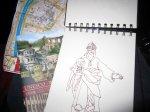 Skizze einer der heiligen drei Könige im Dom von Susanne Haun