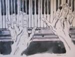 Klavierhände von Susanne Haun zu sehen in der Galerie Zeitlos