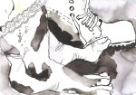Vom Gehen wurden mir die Beine lahm - Version 1 - Zeichnung von Susanne Haun - Tusche auf Bütten - 17 x 22 cm