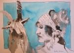 Engelsangesicht von Susanne Haun zu sehen in der Galerie Zeitlos
