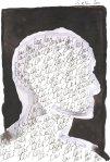 Hat meine Gedanken gelöscht - Version 1 - Zeichnung von Susanne Haun - Tusche auf Bütten - 22 x 17 cm