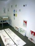 Die beiden Stockrosen bei mir auf dem Atelierboden - Fotos von Susanne Haun