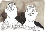In jedem steckt ein Dämon - Zeichnung von Susanne Haun - Sepia auf Bütten - 22 x 17 cm
