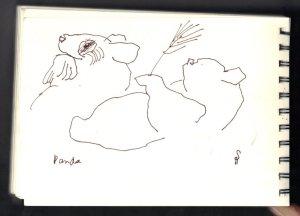 Panda Bären - Skizze von Susanne Haun