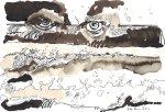 Schlund des Meeres - Zeichnung von Susanne Haun - Sepia auf Bütten - 22 x 17 cm