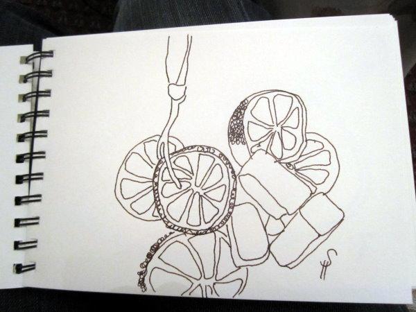 Limone Skizze von Susanne Haun