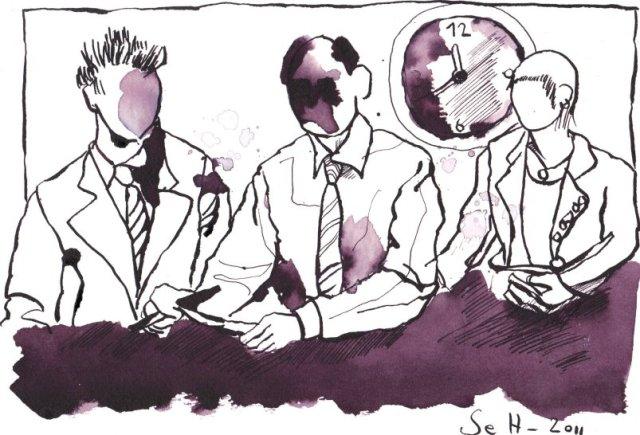 So ein gewöhnlicher Mensch war ich auch - Zeichnung von Susanne Haun - Tusche auf Bütten - 17 x 22 cm