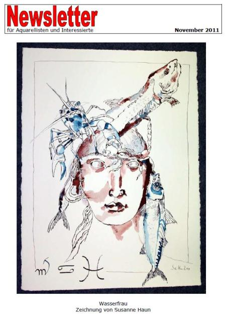 Meine Wasserfrau auf dem Cover des Newsletter von Gaby Stark