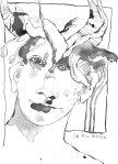 Ein Dämon werde ich - Version 3 - Zeichnung von Susanne Haun - Tusche auf Bütten - 22 x 17 cm