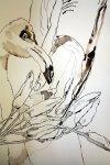 Geordnetes Chaos aus Pepperoni, Flamingo und Engelshand - Zeichnung von Susanne Haun