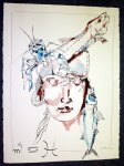 Ich kalligrafiere die Symbole für Skorpion, Krebs und Fische - Zeichnung von Susanne Haun