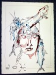Wasserfrau - Zeichnung von Susanne Haun - 80 x 60 cm Tusche auf Bütten