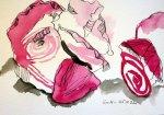 Verblühte Rose - Zeichnung von Susanne Haun - 17 x 22 cm - Tusche auf Bütten