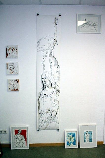 Flamingos und andere Zeichnungen von Susanne Haun