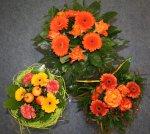 Vier Sträuße habe ich in Orange bekommen - einer fehlt hier, der war schon zuhause - Foto von Susanne Haun