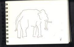 Skizze Elefant von Susanne Haun