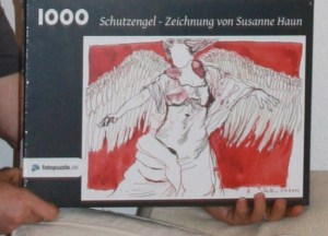 Fotopuzzle mit Zeichnung von Susanne Haun