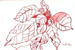 Weihnachtsstern - Zeichnung von Susanne Haun - 12 x 17 cm - Tusche auf Bütten